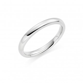 Platinum 2.5mm Oxford wedding ring