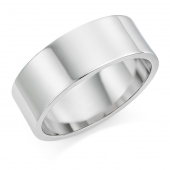Platinum 8mm Windsor wedding ring