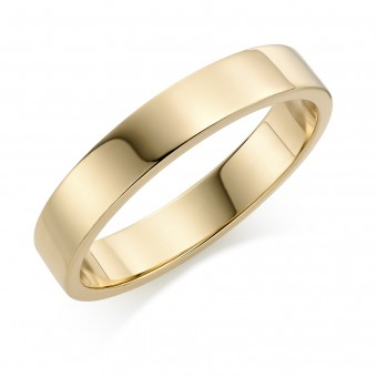 18ct yellow gold 4mm Windsor wedding ring