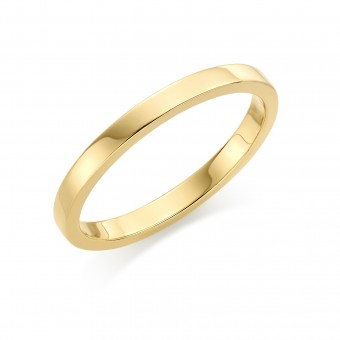 18ct yellow gold 2mm Windsor wedding ring