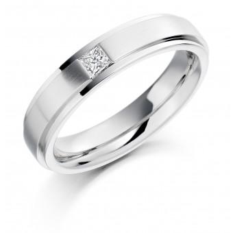 Platinum 5mm Rufina diamond wedding ring 0.16cts