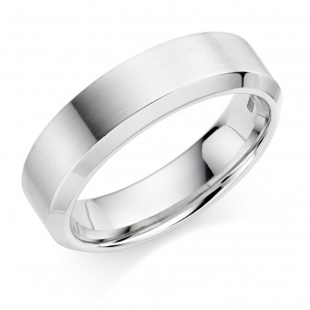 Platinum 6mm Agnella wedding ring
