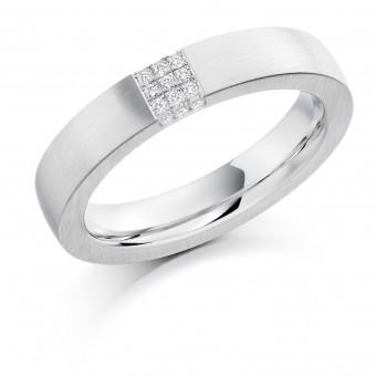 Platinum 4.5mm Eloisa diamond wedding ring 0.08cts