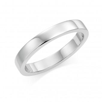 Platinum 3mm Windsor wedding ring