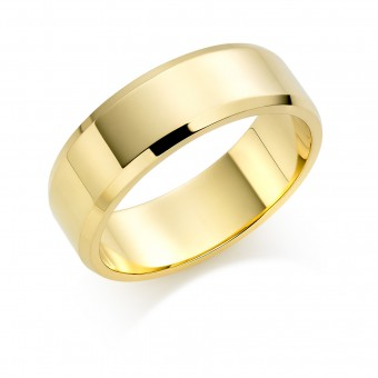 18ct yellow gold 7mm New Windsor wedding ring