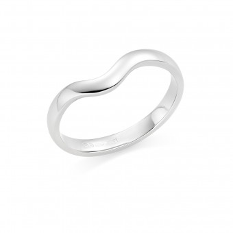 Platinum contoured 2.5mm Oxford wedding ring