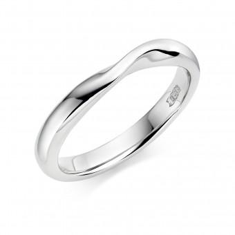Platinum 2.7mm Bellini wedding ring