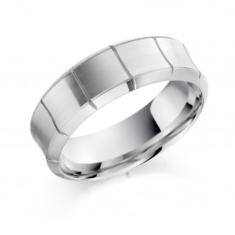 Platinum 7.5mm Clarissa wedding ring