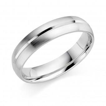 Platinum 5mm Genevra wedding ring