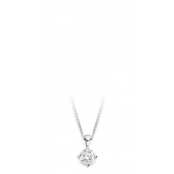 18ct white gold Antonietta round cut diamond pendant 0.11cts
