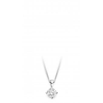 18ct white gold Antonietta round cut diamond pendant 0.35cts