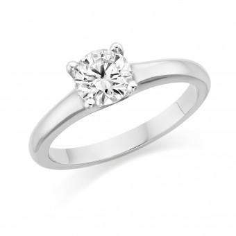 Platinum Giordana round cut diamond solitaire ring 0.50cts