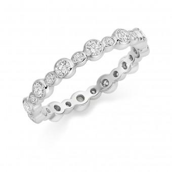 Platinum Rosa round cut diamond full eternity ring 0.86cts