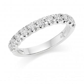 Platinum Sabrina round cut diamond true half eternity ring 0.72cts