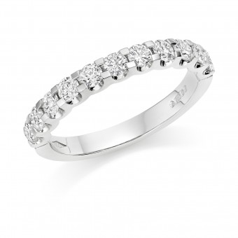 Platinum Sabrina round cut diamond true half eternity ring 0.43cts