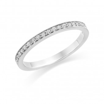 Platinum Amalia round cut diamond full eternity ring 0.35cts