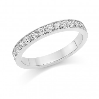 Platinum Amalia round cut full eternity ring 0.85cts