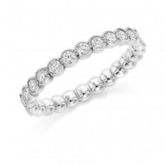 Platinum Cianna round cut diamond full eternity ring 1.03cts