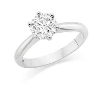 Platinum Susanna round cut diamond solitaire ring 1.04cts