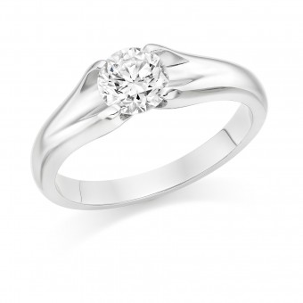 Platinum Eleanor round cut diamond solitaire ring 0.70cts