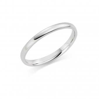 Platinum 2mm Cambridge wedding ring
