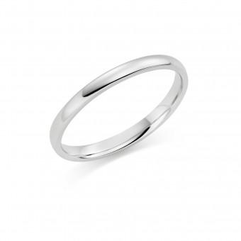 Platinum 2mm Cambridge wedding ring
