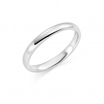 Platinum 2.5mm Cambridge wedding ring
