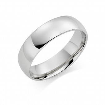 Platinum 6mm Cambridge wedding ring.