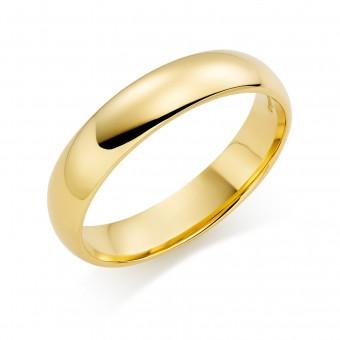 18ct yellow gold 5mm Cambridge wedding ring
