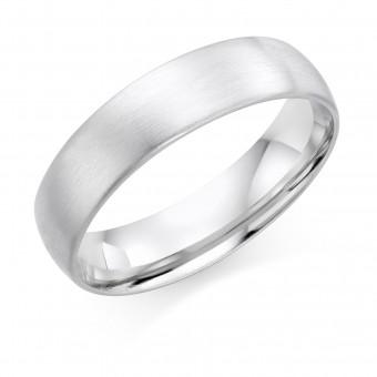 Platinum brushed finish 6mm Cambridge wedding ring
