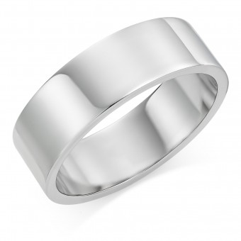 Platinum 7mm Windsor wedding ring