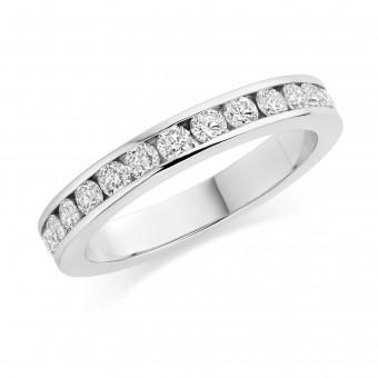 Platinum Alexandra round cut diamond full eternity ring 1.20cts