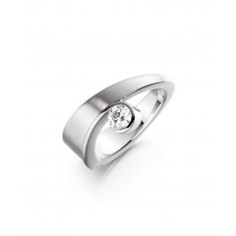 Platinum Byanca round cut diamond ring 0.36cts