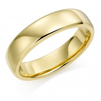 18ct yellow gold 5mm Eton wedding ring.