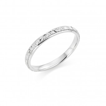Platinum 2mm North Star wedding ring