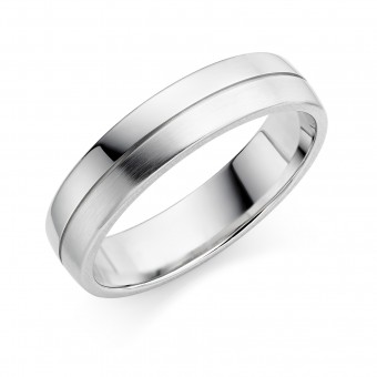 Platinum 5mm Ysabelle wedding ring