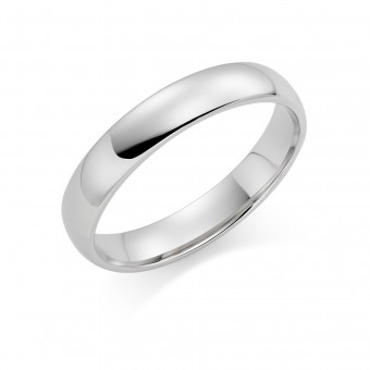 Platinum 4mm Cambridge wedding ring