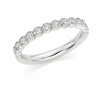 Platinum Cianna round cut diamond true half eternity ring 0.45cts