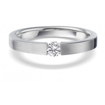 Platinum Fabia round cut diamond solitaire ring 0.17cts