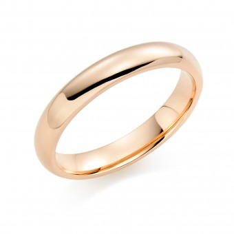 18ct red gold 4mm Oxford wedding ring