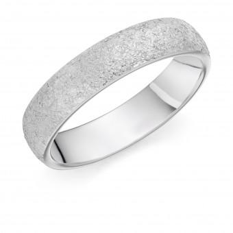 Platinum 5mm Arintica molton finish wedding ring