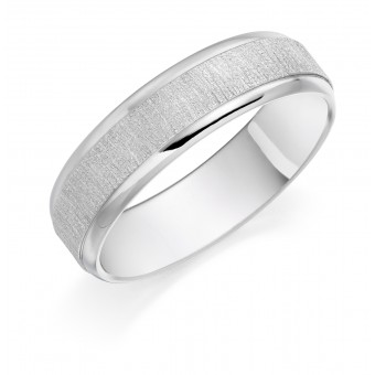 Platinum 6mm Slate wedding ring
