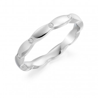 Platinum 2.5mm Kara diamond set wedding ring