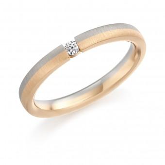 18ct white and rose gold 2.5mm Vita diamond set ring