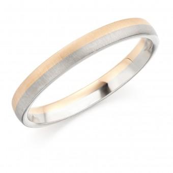 18ct white and rose gold 2.5mm Vita wedding ring