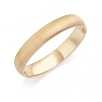 Eighteen carat yellow and rose gold 3.5mm Sunrise wedding ring.