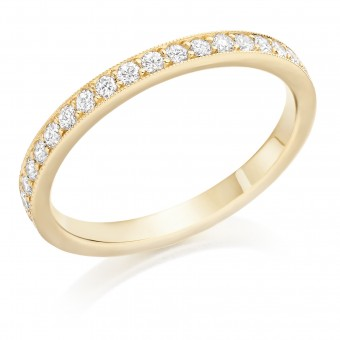 18ct yellow gold Amalia round cut diamond true half eternity ring 0.23cts