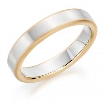 Platinum & 18ct red gold 4.5mm Leonora wedding ring