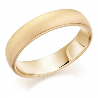 Eighteen carat yellow and rose gold 5mm Sunrise wedding ring.