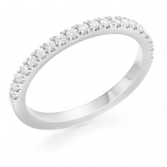 Platinum Pianeti round cut diamond true half eternity ring 0.26cts